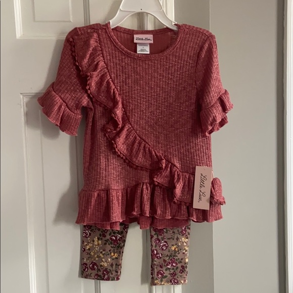 Little Lass Other - NWT Burgundy two piece pant set
